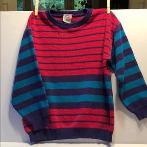 Vintage Popsicle striped sweater 6x